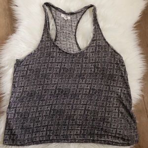 MADEWELL • linen tank top size large black & white